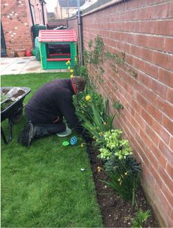 Geo-Border Lawn Edging - Work