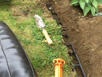 Plastic Lawn Edging Work