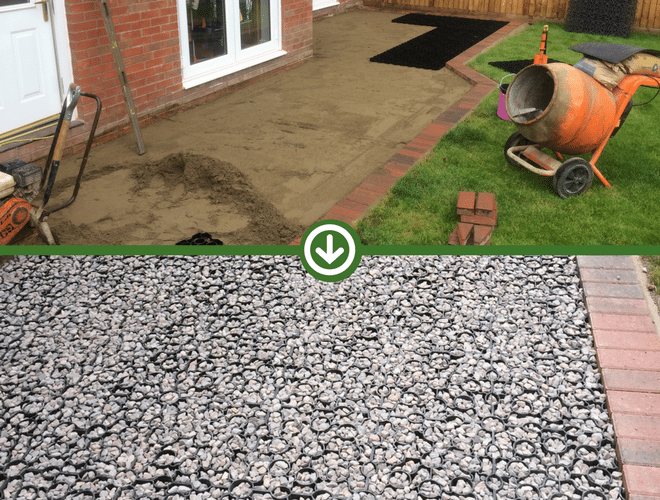 X-Grid and Resin Bound Patio Work