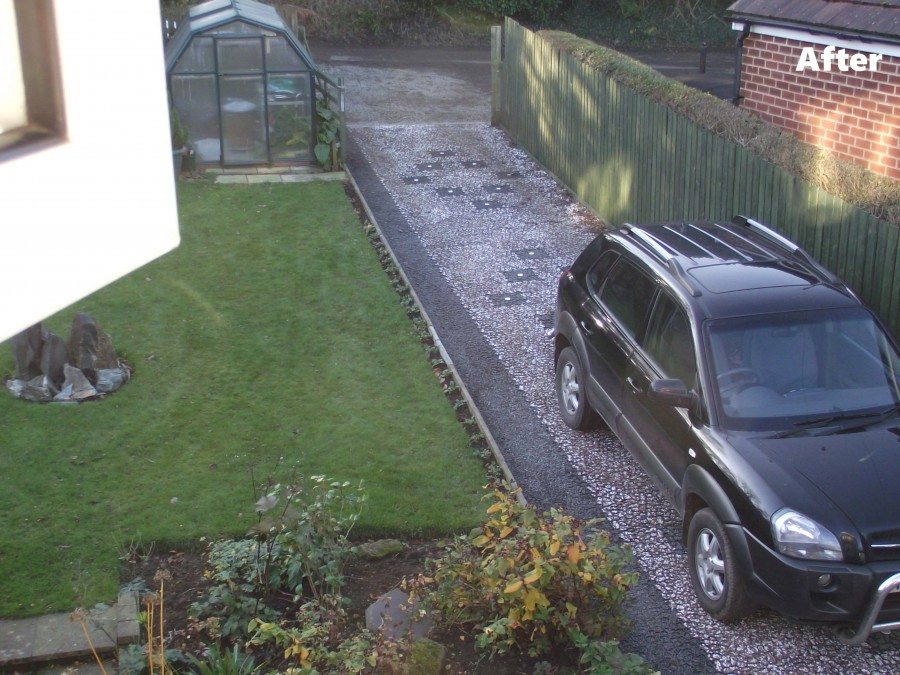 Domestic Driveway 130sqm Black & Delineators Featured Image