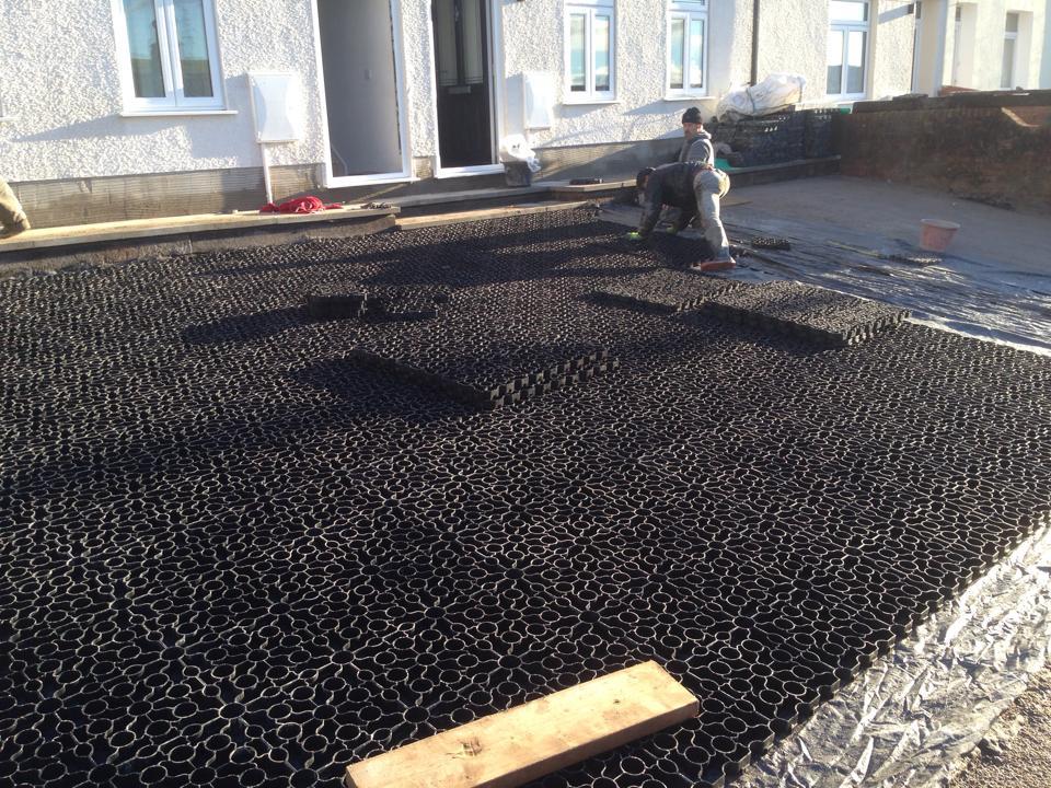 Domestic X-Grid Driveway - No1 Home Improvements During