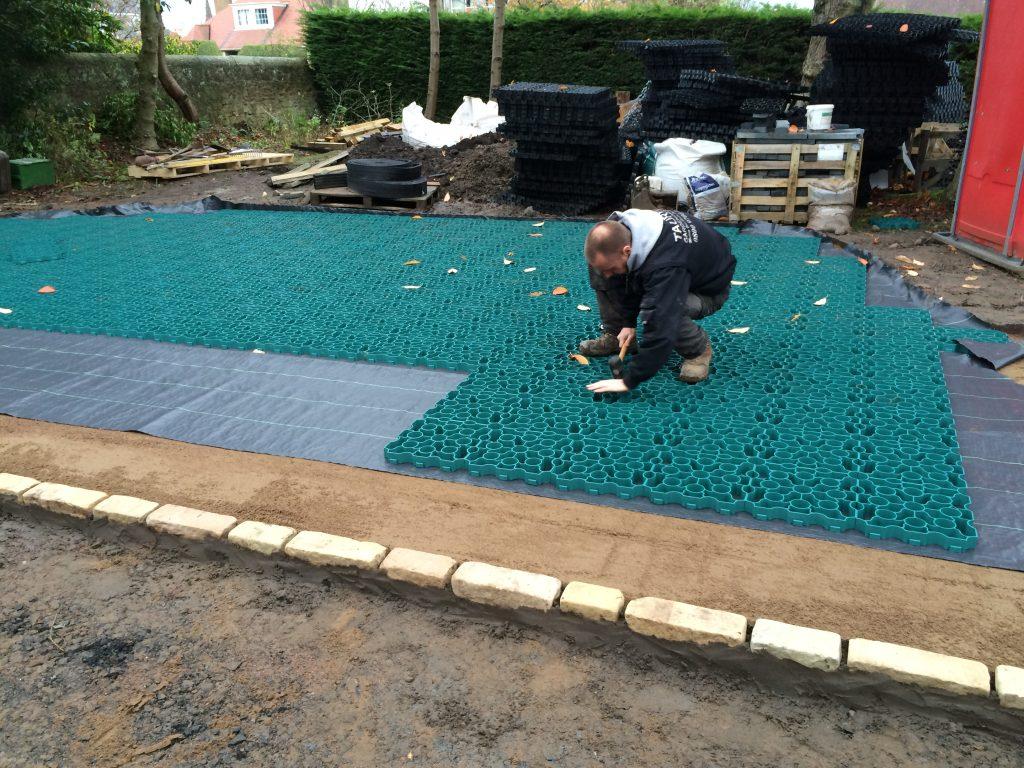 Taurus Gardening X-Grid Gravel Driveway During