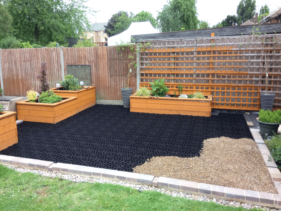 X-Grid Paving in Garden Featured Image