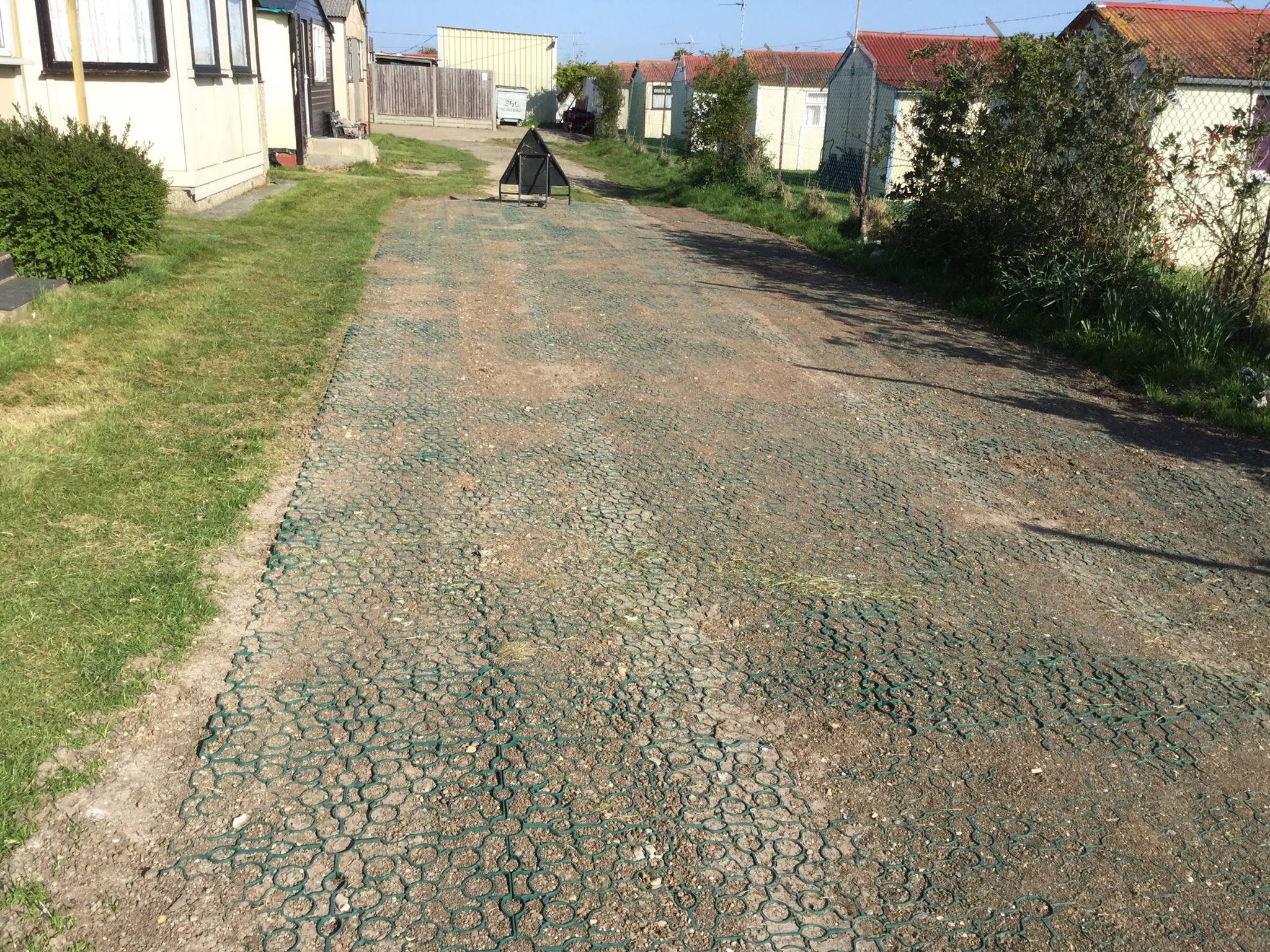 Grass Pavers - During
