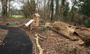 Hill Holt Wood Rubber Grass Mats Project
