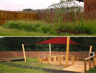 Versatile Rubber Grass Mats Outdoor Classroom