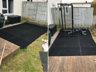 Versatile Rubber Grass Mats Outdoor Gym