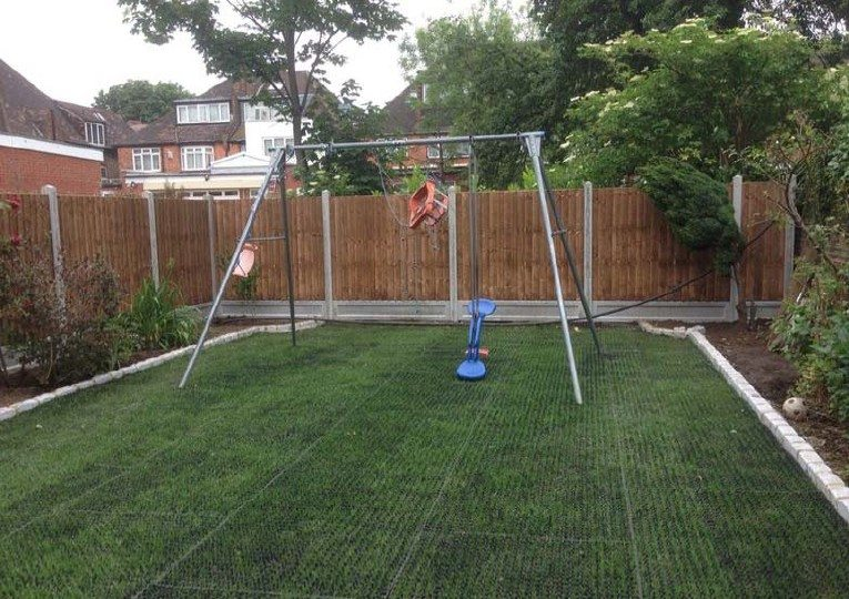 Rubber Grass Mats for lawn protection under swing