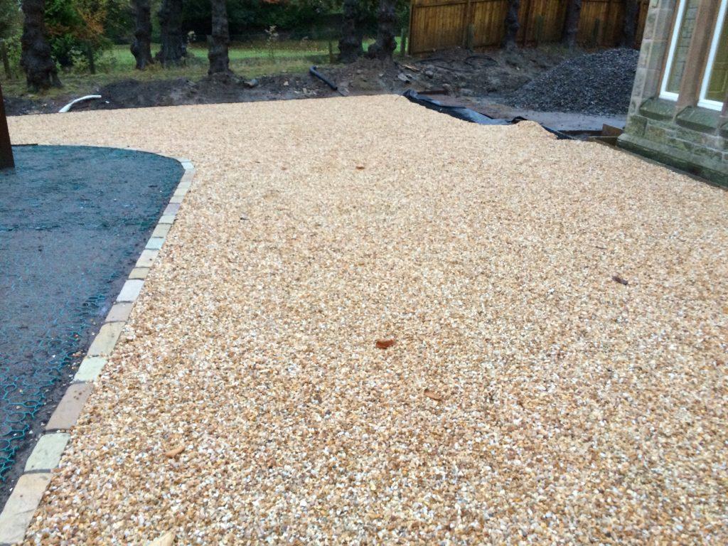 Taurus Gardening X-Grid Gravel Driveway Finished
