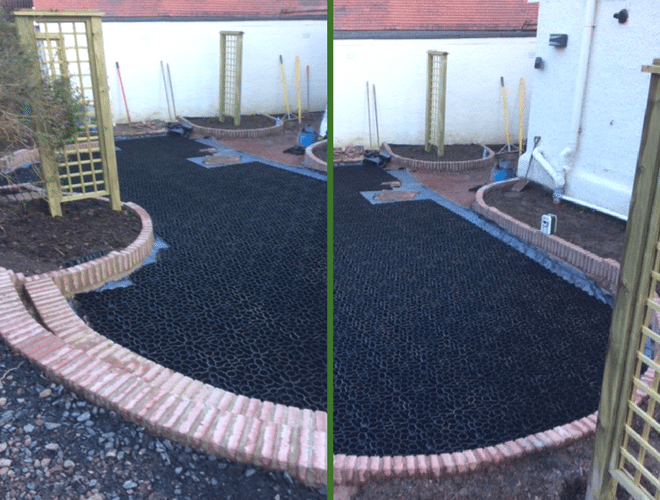 X-Grid Garden Paving Products and Work