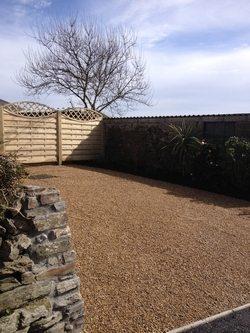 X-Grid gravel driveway finished