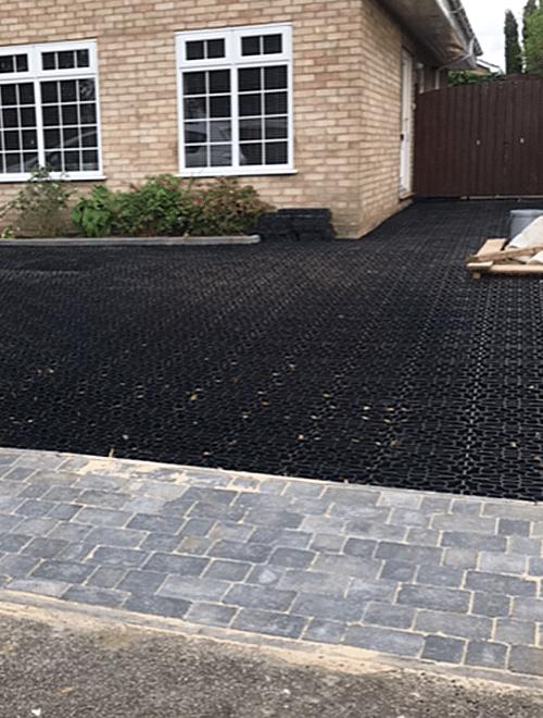 Black X-Grid Gravel Driveway Project