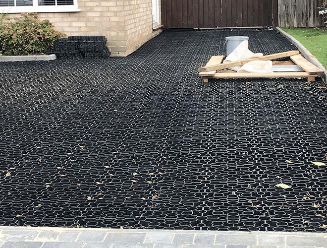 Black X-Grid Gravel Driveway Work