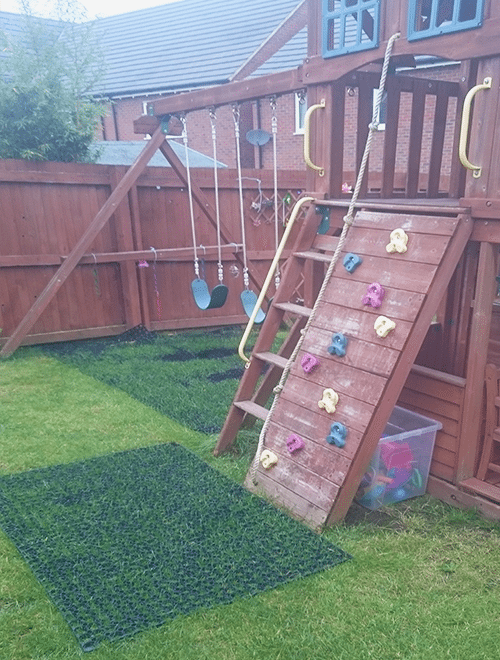 Grass Mats By Climbing Frame Slide Swings Conclusion