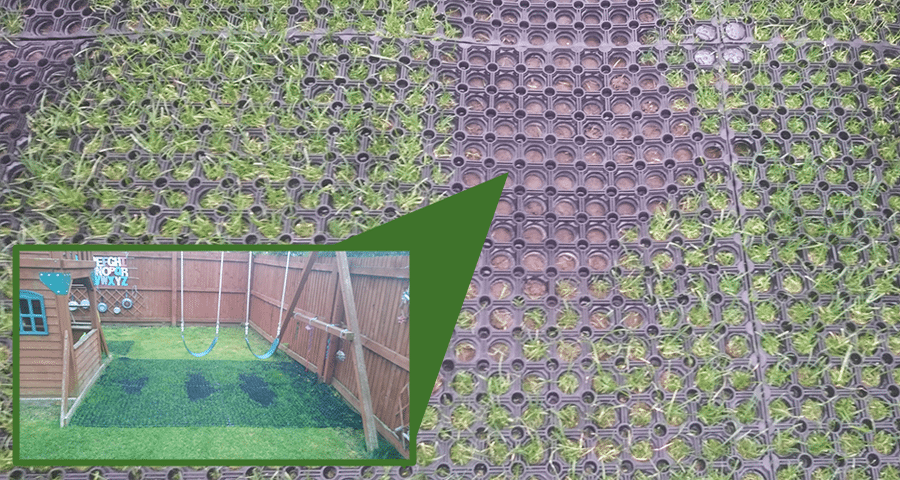 Grass Mats By Climbing Frame Slide Swings Featured Image 900x480