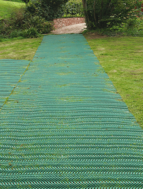 Grass Reinforcement Mesh to Shed Project