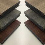 Three Colours Of Plastic Decking Boards