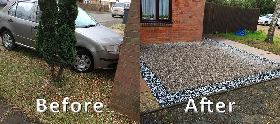 12m² Gravel Driveway Created Using X-Grid Permeable Paving Grid Featured Image