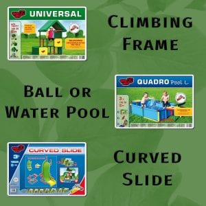 QuadroPlay - Large Pool & Curved Slide Combo