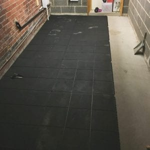 Rubber Gym Mats Used To Create A Home Gym: Installing Rubber Gym Mats