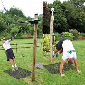 Grass Protection Mats Used Under Fitness Trees