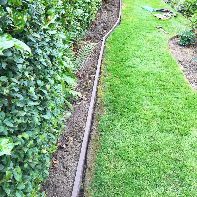 Lawn Edging Plank Installation Case Study: Work