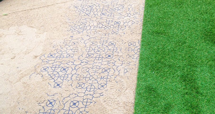 X-Grid Used for Ground Reinforcement in Artificial Grass Installation -Featured Image