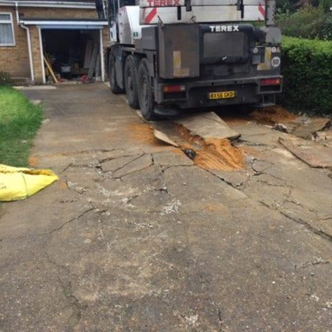 121m² X-Grid® Gravel Driveway Case Study: Broken Driveway