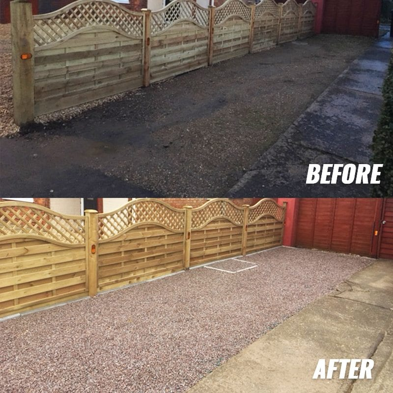 26m² X-Grid® Gravel Driveway Customer Installation: Before and After