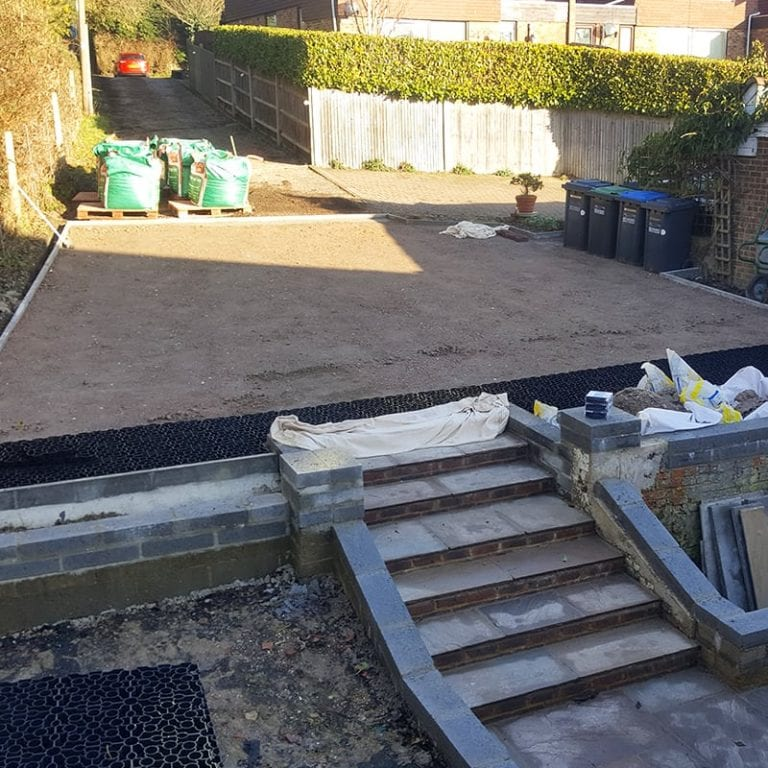 80m² X-Grid® Domestic Gravel Driveway Installation: Work