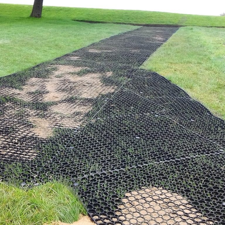 Grass Mats Used To Create Paths At Lancaster Golf Club: Work