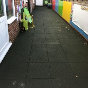 Creating A Safe Play & Learning Area Using Rubber Play Tiles: Work