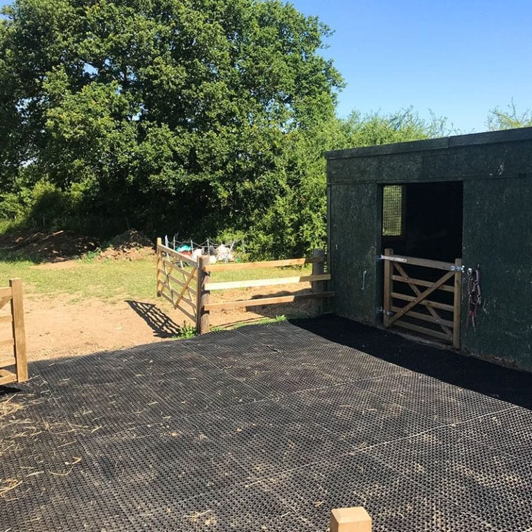 Rubber Grass Mats Installed In An Equestrian Yard: conclusion