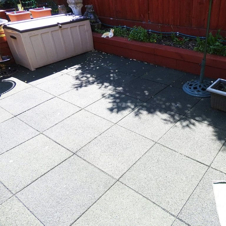 Rubber Tiles Used To Pave An Entire Back Garden: conclusion