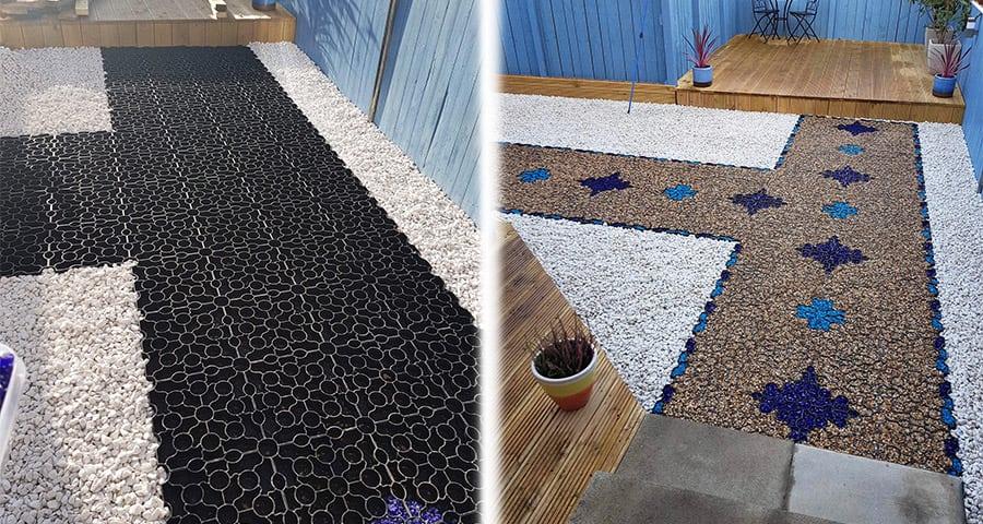 13m² X-Grid Multicoloured Gravel X-Grid Garden Path - Featured Image