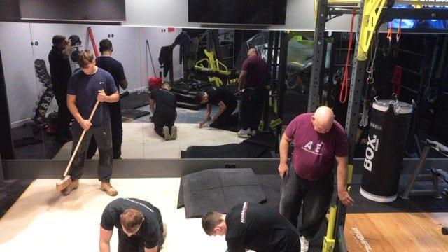 Installing Gym Flooring