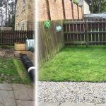 Grass Protection Mesh & Plastic Edging Used On Back Garden - Featured Image