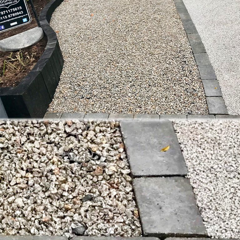 Grey X-Grid Gravel Driveway - Project One - Image Two