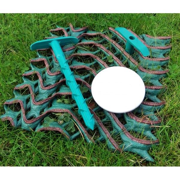 Anti-Pull 160mm Anchor Peg Green Plastic