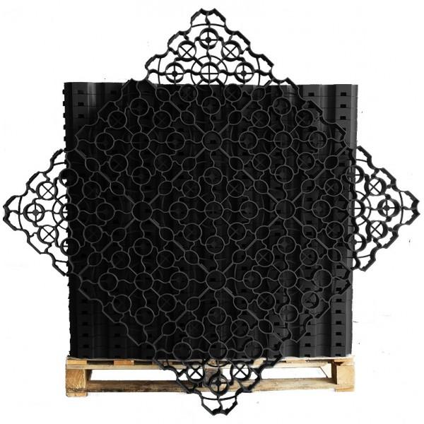 Black X-Grid® Porous Grass Pavers